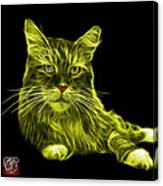 Yellow Maine Coon Cat - 3926 - Bb Canvas Print
