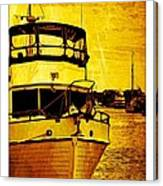 Yellow On The Water Canvas Print
