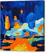 Yellow Orange Blue Sunset Landscape Canvas Print