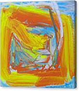 Yellow -orange  Window. Canvas Print