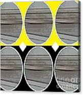 Yellow Oval Canvas Print