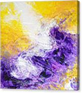 Yellow Purple Inspirational Color Energy Original Abstract Painting Tide Of Time By Chakramoon Canvas Print