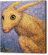 Yellow Rabbit Canvas Print