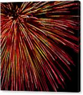 Yellow Red Firework Explosion Canvas Print
