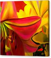 Yellow Red Kiss Canvas Print