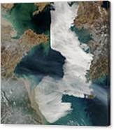 Yellow Sea - Satellite View Canvas Print