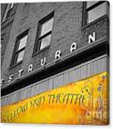 Yellow Sign Theatre Canvas Print