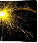 Yellow Sparkle Canvas Print