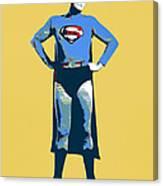 Yellow Superman Canvas Print