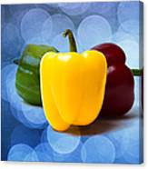 Yellow Sweet Pepper - Textured Canvas Print