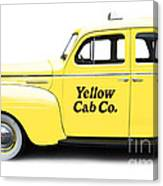 Yellow Taxi Cab Canvas Print