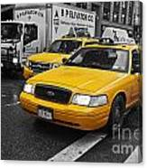 Yellow Taxi Color Pop Canvas Print