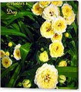 Yellow Tea Rose  Happy Mother's Day Canvas Print