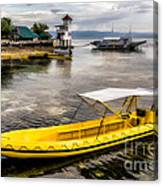 Yellow Tour Boat Canvas Print
