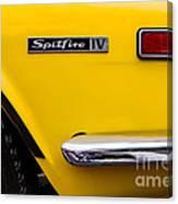 Yellow Triumph Spitfire Canvas Print