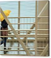 Yellow Umbrella Canvas Print
