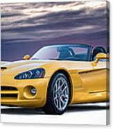Yellow Viper Convertible Canvas Print