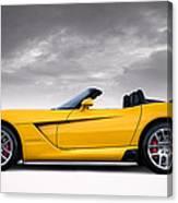 Yellow Viper Roadster Canvas Print