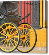 Yellow Wheeled Carriage In Seville Canvas Print