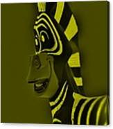 Yellow Zebra Canvas Print