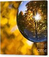 Yellow Zig Zag Canvas Print