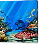 Yellowfin Grouper Wreck Canvas Print