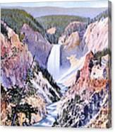 Yellowstone Canyon Yellowstone Np Canvas Print