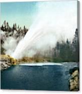Yellowstone Geyser, C1905 Canvas Print
