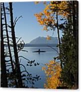 Yellowstone Lake At Dusk Canvas Print