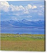 Yellowstone Lake In Yellowstone National Park-wyoming- Canvas Print
