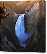 Yellowstone Lower Falls At Sunset Canvas Print