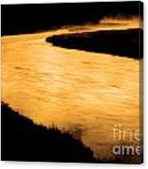 Yellowstone National Park Madison River In Early Morning Canvas Print