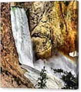 Yellowstone Lower Falls Rainbow Canvas Print