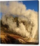 Yellowstone Riverside Eruption Canvas Print