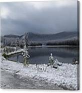 Yellowstone Snow Canvas Print