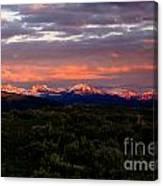 Yellowstone Sunset Canvas Print