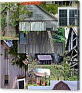 Yesterday Barns Collage Canvas Print