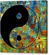 Yin Yang Abstract Canvas Print