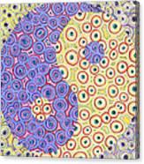 Yin Yang Eyes Canvas Print