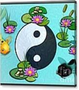 Yin Yang Koi Pond Scenery Canvas Print