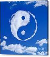 Yin-yang Symbol Made Of Clouds Canvas Print