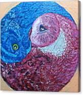 Ying Yang Owls Canvas Print
