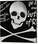 Yo Ho And A Bottle Of Rum Canvas Print
