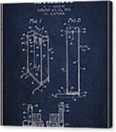 Yoga Exercising Apparatus Patent From 1968 - Navy Blue Canvas Print