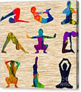 Yoga Poses Canvas Print