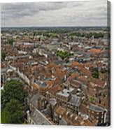 York From York Minster Tower II Canvas Print