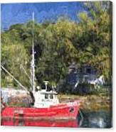 York Harbor Maine Painterly Effect Canvas Print