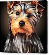 Yorkie Portrait By Spano Canvas Print