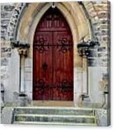 Yorkshire Church Door Canvas Print