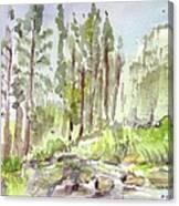 Yosemite Camp Canvas Print
